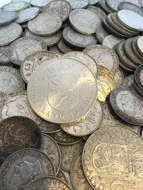 waarde zilveren tientje